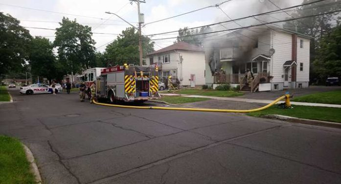BREAKING Fire Strikes St. Felix and 4th in Cornwall Ontario 072117