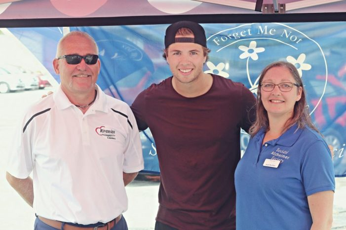 Canuck Ben Hutton Helps Raise Cash for Alzheimer's in Cornwall at Riverside Chrysler