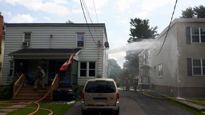 BREAKING – Fire Strikes First Street in Cornwall Ontario – 080617