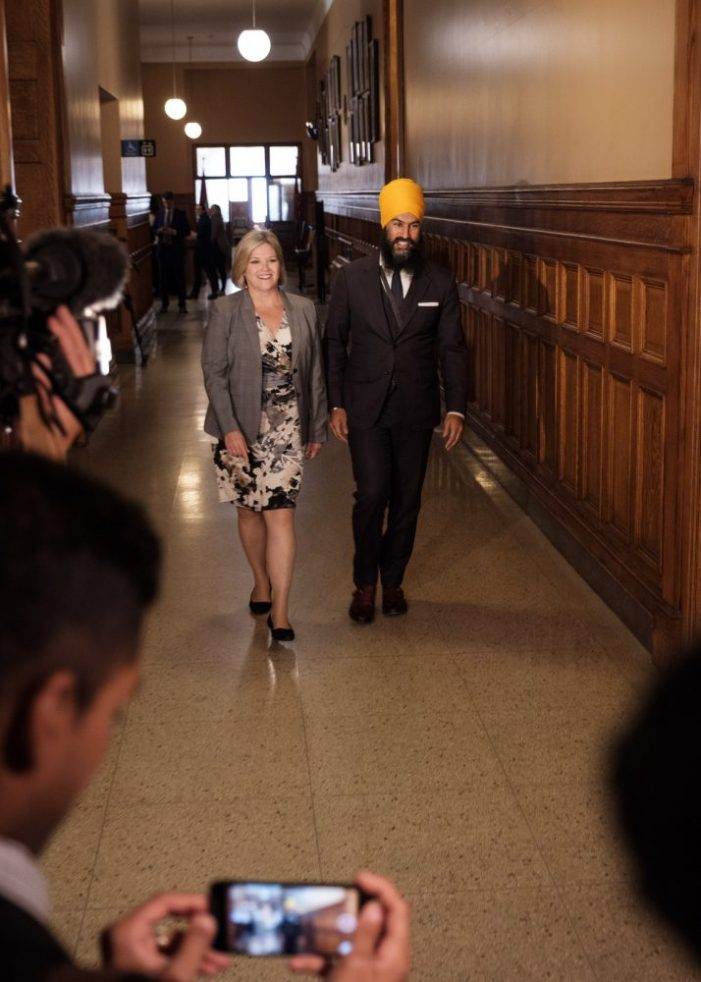 Can Jagmeet Singh Help Andrea Horwath Become Premier of Ontario?  by Jamie Gilcig 102317