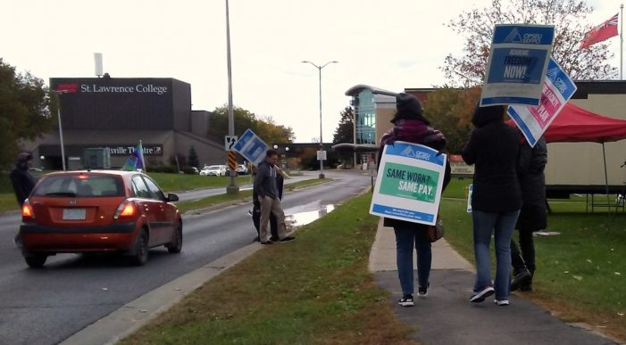 Day 3 of St. Lawrence College OPSEU Strike by Marshall Waddell 101818
