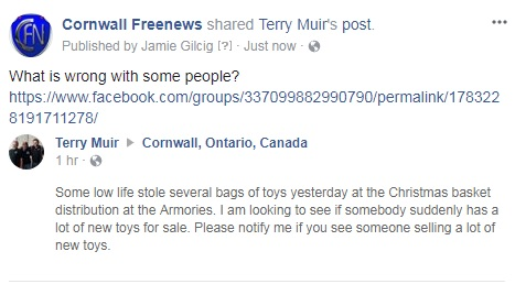 Security Issue @ Glens Cornwall Armoury – Sub Machine Gun Stolen – Now Christmas Toys for Kids!