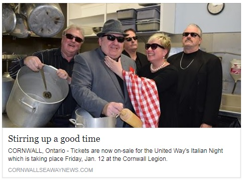 United Way SD&G & Media Team Up for Fundraiser that Insults Italians in Cornwall Ontario 010518