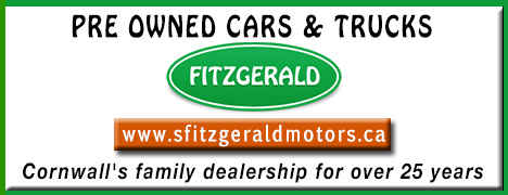 Steve Fitzgerald Motors  (613 932 4514)  125 Cornwall Centre Rd Cornwall ON