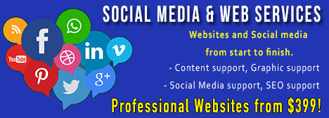 Social Media & Web Services Available!  CLICK FOR DETAILS