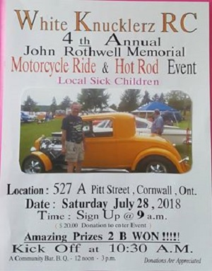 Annual John Rothwell Memorial Motorcycle Ride & Hot Rod Event