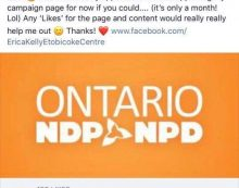 NDP Candidate Erica Kelly Apologizes for Social Media Posts 052518