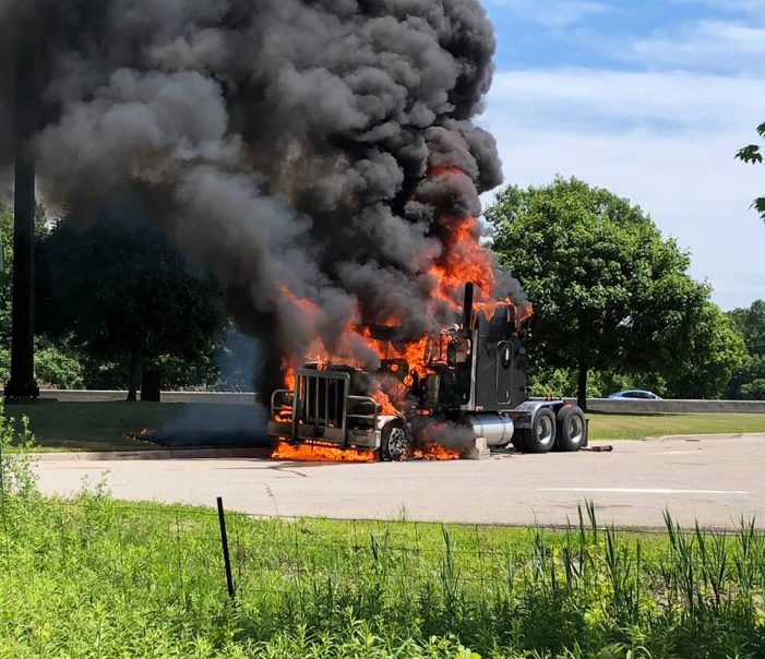 BREAKING – Truck Explosion & Fire at Lancaster 401 Weigh Station 061618