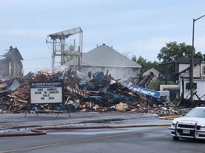 #CCPS Cornwall Police Deem Poirier Furniture Montreal Road Fire SUSPICIOUS 072718