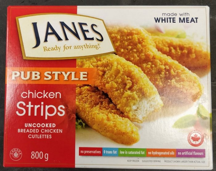 CFIA FOOD ALERT – Janes Chicken Strips – SALMONELLA  110218