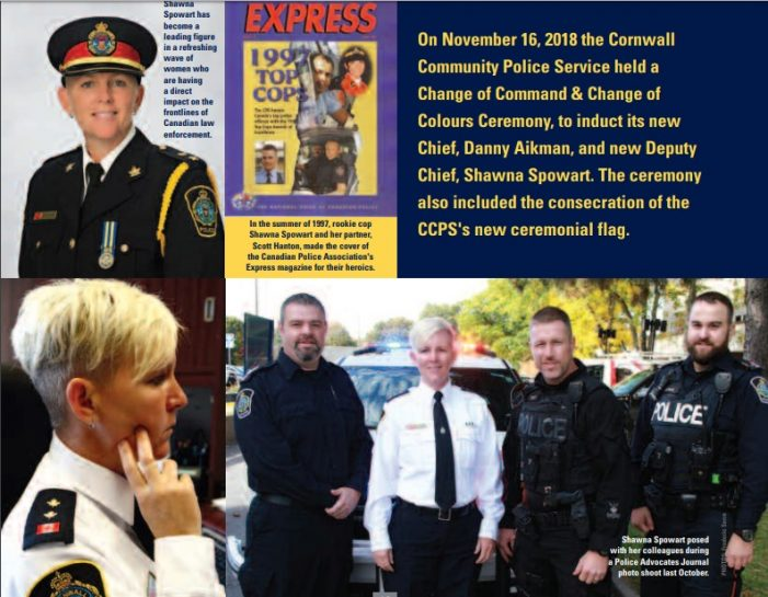 Cornwall Deputy Chief Shawna Spowart Featured in Police Advocates Journal JAN 25, 2019