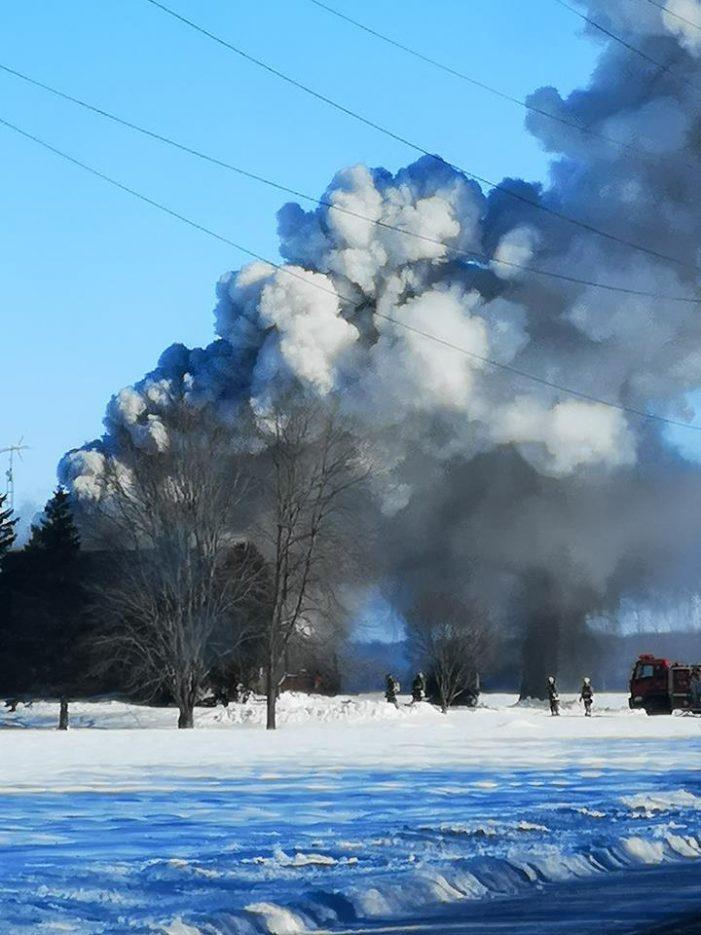 BREAKING Fire Strikes Near Lancaster ON 012819