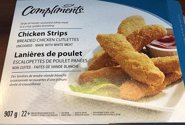 CFIA ALERT  – Compliments brand Chicken Strips recalled due to Salmonella 052519