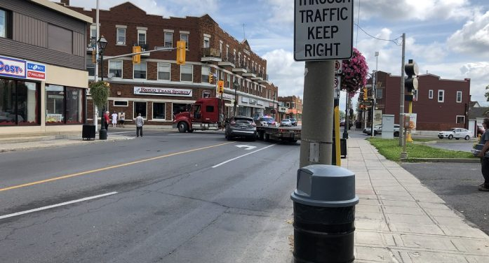 Truck Collision Montreal Road & McConnell in Cornwall Ontario 081919