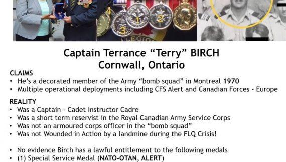 Stolen Valour Canada Responds to Terry Birch Story & CFN FILES 082219
