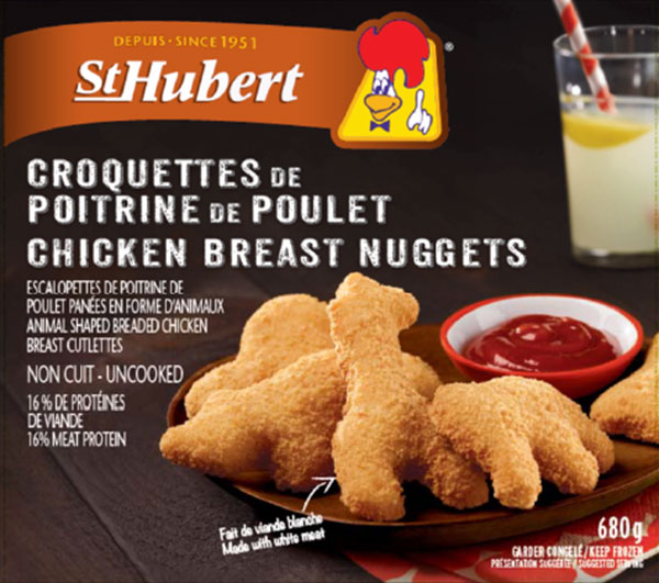 CFIA FOOD Recall ST HUBERT Chicken Nuggets – BONE FRAGMENTS 083119