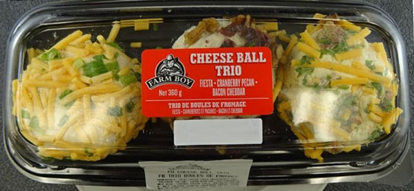 Food Recall Warning – Farm Boy brand cheese balls recalled due to Listeria monocytogenes 111819
